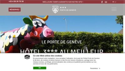 Site internet de Hotel Porte de Geneve