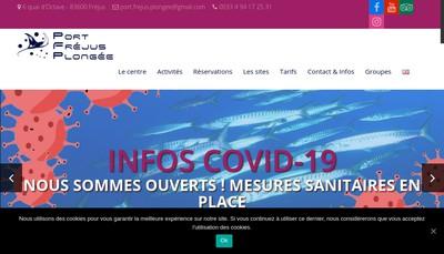 Site internet de Port Frejus Plongee
