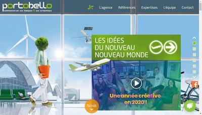Site internet de SARL Portobello Comunication