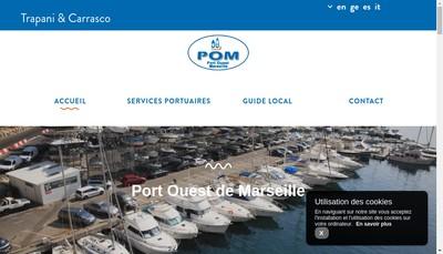 Site internet de Port Ouest Marseille