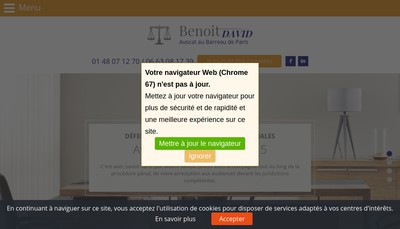 Site internet de Benoit David