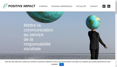 Site internet de Positive Impact