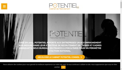Site internet de Potentiel Ressources