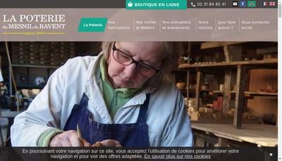 Site internet de SARL Poterie du Mesnil de Bavent