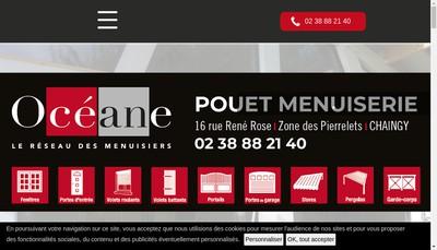 Site internet de Pouet Menuiserie