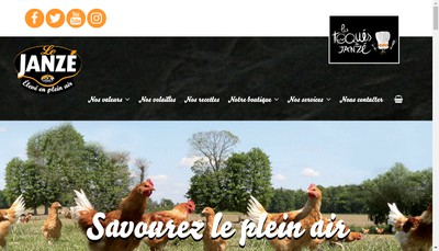 Site internet de Les Fermiers de Janze