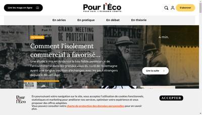 Site internet de Pour l'Eco