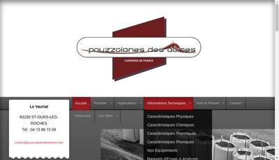 Site internet de Pouzzolanes des Domes
