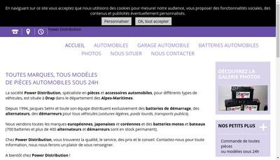 Site internet de Power Distribution