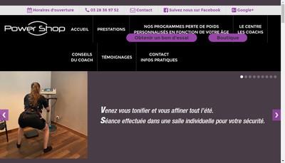 Site internet de Power Shop