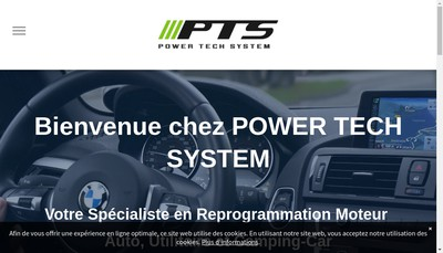 Site internet de Power Tech System