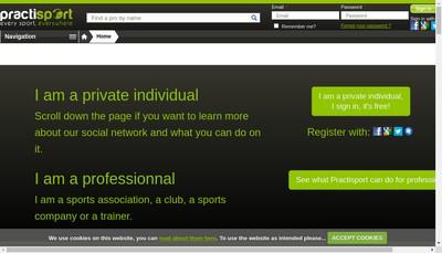 Site internet de Practisport
