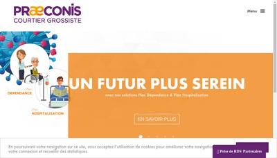 Site internet de Praeconis