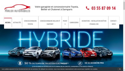 Site internet de Pralon Automobiles