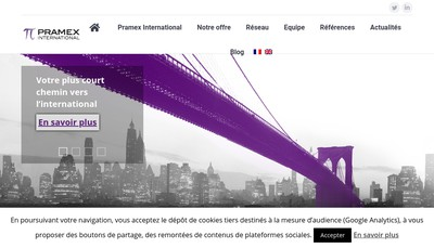 Site internet de Pramex International