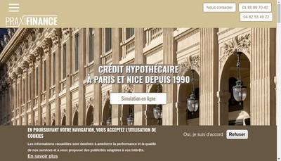 Site internet de Praximmo