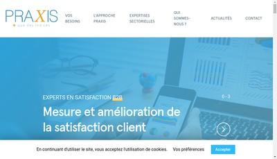 Site internet de Institut Praxis