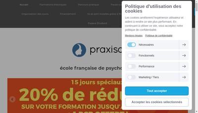 Site internet de Praxisa Formation