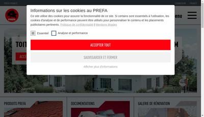 Site internet de Prefa France