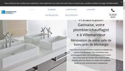 Site internet de SAS Prefabrication Gatinaise