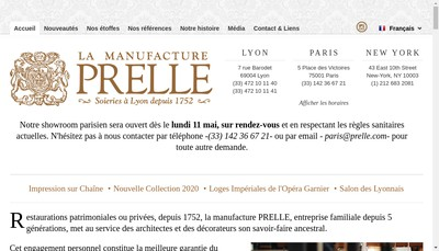 Site internet de Prelle et Compagnie