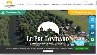 Site internet de Camping le Pre Lombard