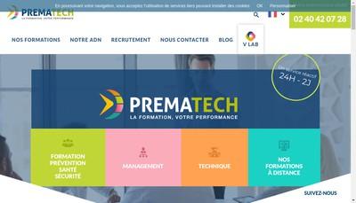 Site internet de Prematech Formation