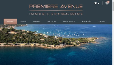 Site internet de Premiere Avenue