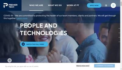 Site internet de Premier Tech Chronos