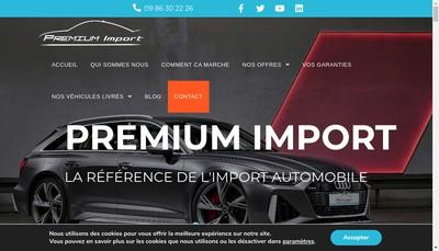 Site internet de Premium Import