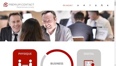 Site internet de Premium Contact