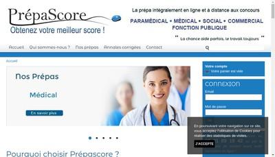 Site internet de Prepascore