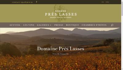 Site internet de Domaine des Pres Lasses