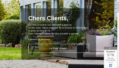 Site internet de Les Pres d'Ondine