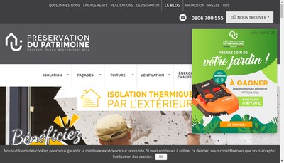 Site internet de Preservation du Patrimoine