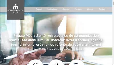 Site internet de Presse Media Sante