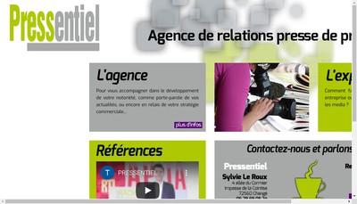 Site internet de Pressentiel