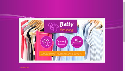 Site internet de Pressing Betty
