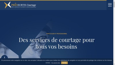 Site internet de Pressurtis Courtage