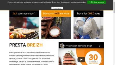Site internet de Presta Breizh