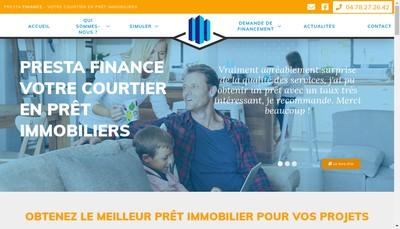 Site internet de Presta Finance