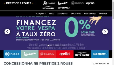 Site internet de Prestige 2 Roues