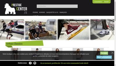 Site internet de Prestige Center