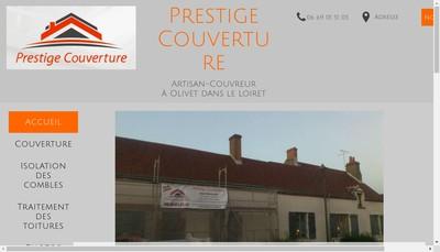 Site internet de Prestige Couverture