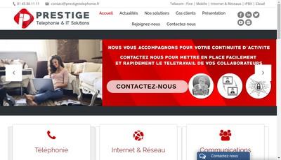 Site internet de Prestige Telephonie