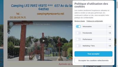 Site internet de Camping les Pres Verts