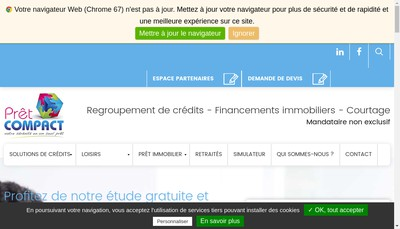 Site internet de Pret Compact