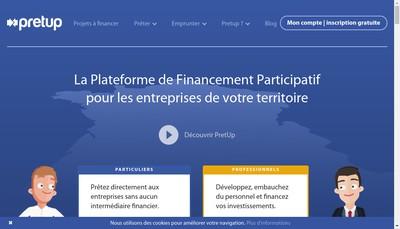 Site internet de Pretup