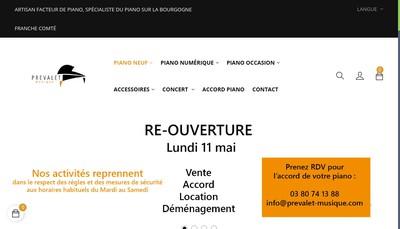 Site internet de Prevalet Musique