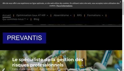 Site internet de Prevantis